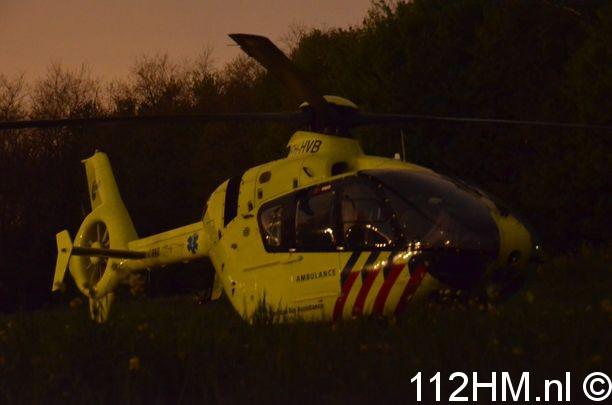 Traumahelikopter bij reanimatie Gouda (8)