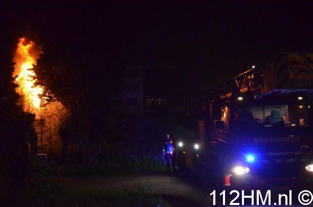 Uitslaande brand Achterwillenseweg Gouda (6)