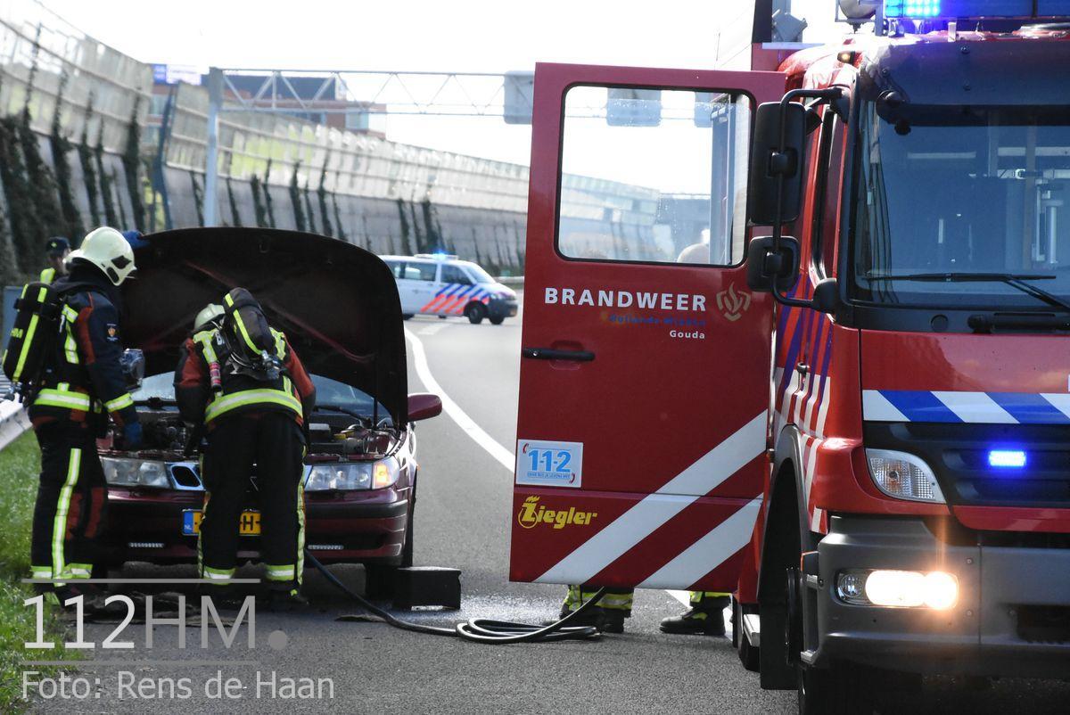 Voertuigbrand A12 Waddinxveen (10)