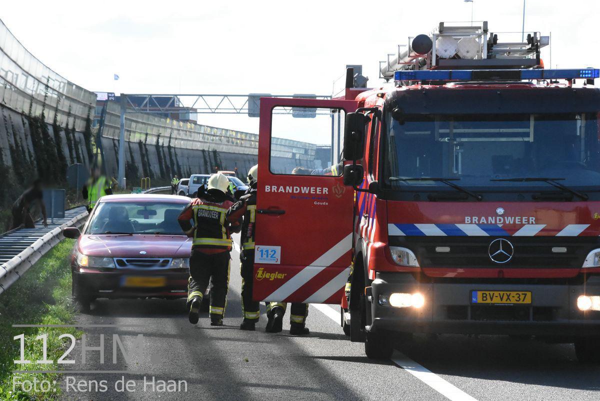 Voertuigbrand A12 Waddinxveen (1)