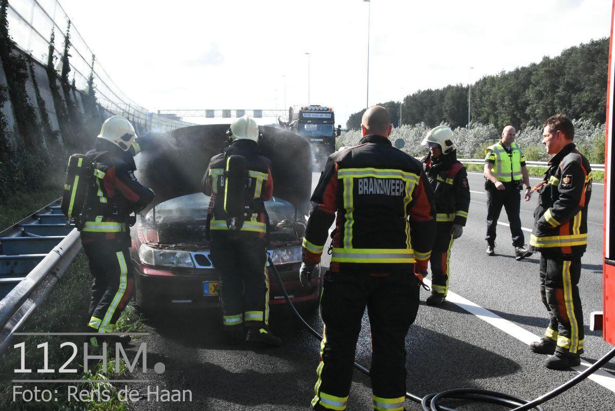 Voertuigbrand A12 Waddinxveen (5)