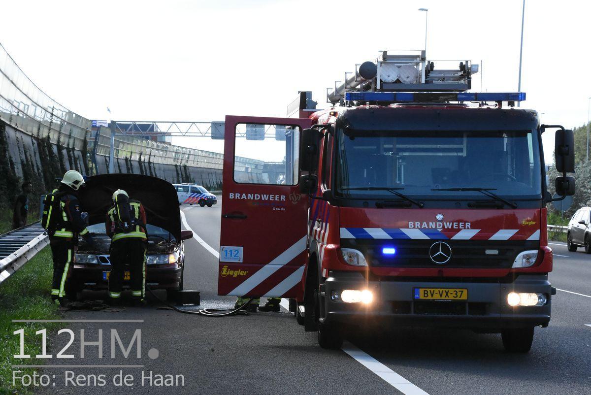 Voertuigbrand A12 Waddinxveen (9)