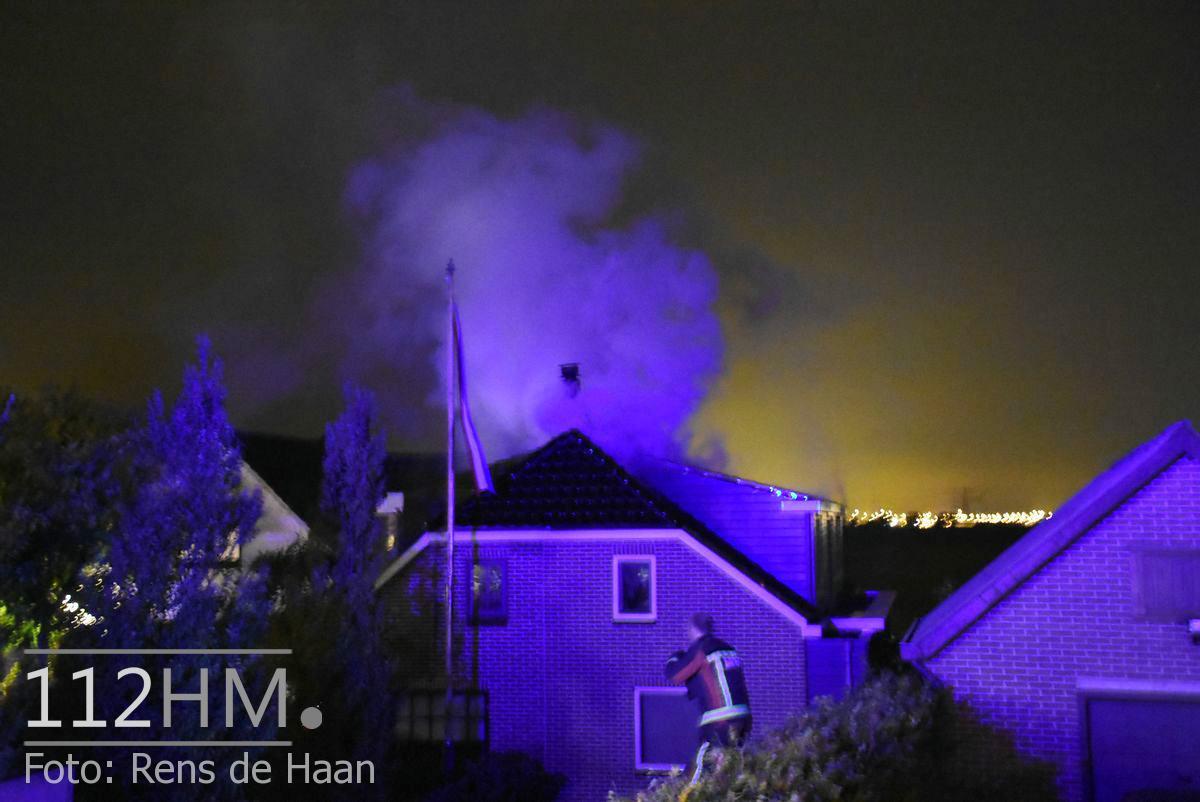 Uitslaande brand Noordeinde Moerkapelle (1)