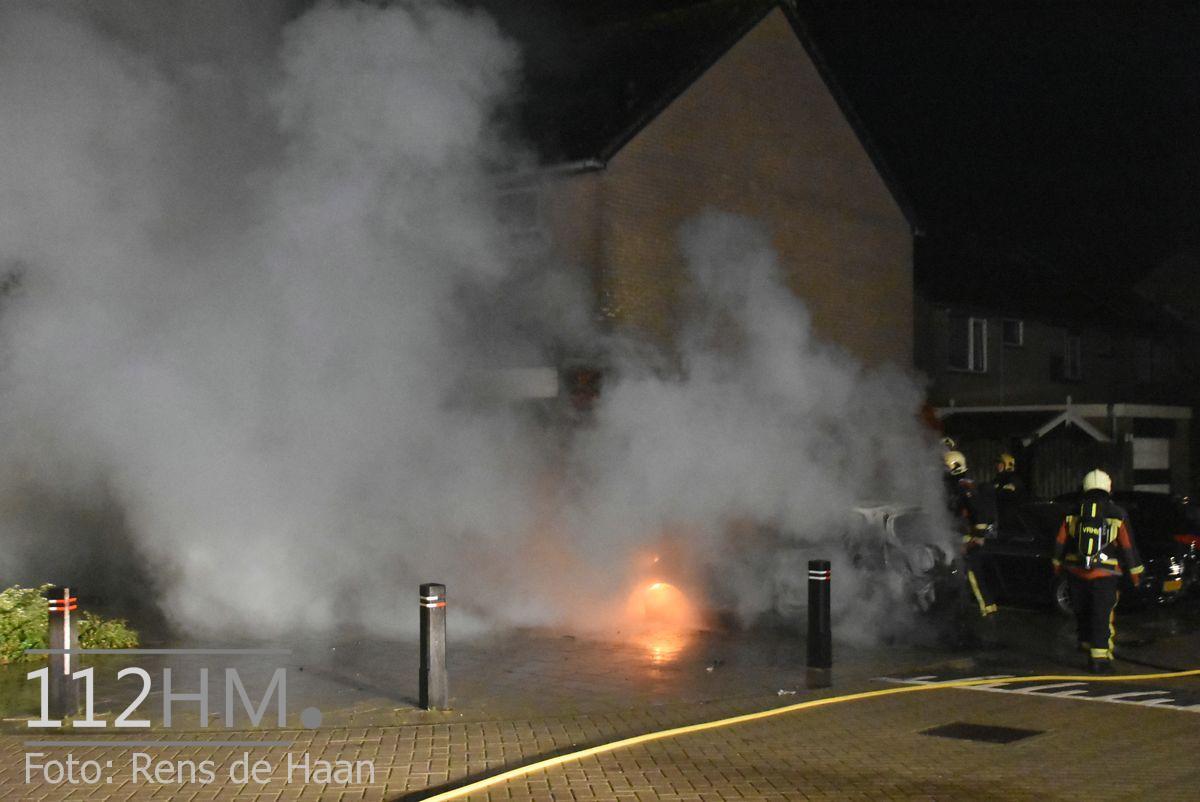Voertuigbrand Kievitslaan Stolwijk (1)