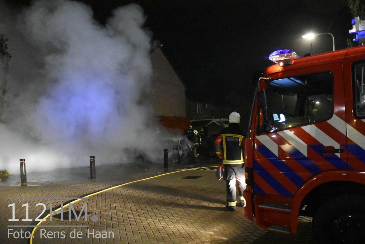 Voertuigbrand Kievitslaan Stolwijk (2)