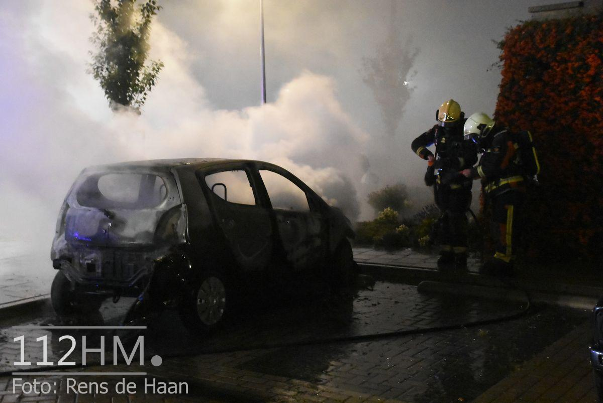 Voertuigbrand Kievitslaan Stolwijk (7)