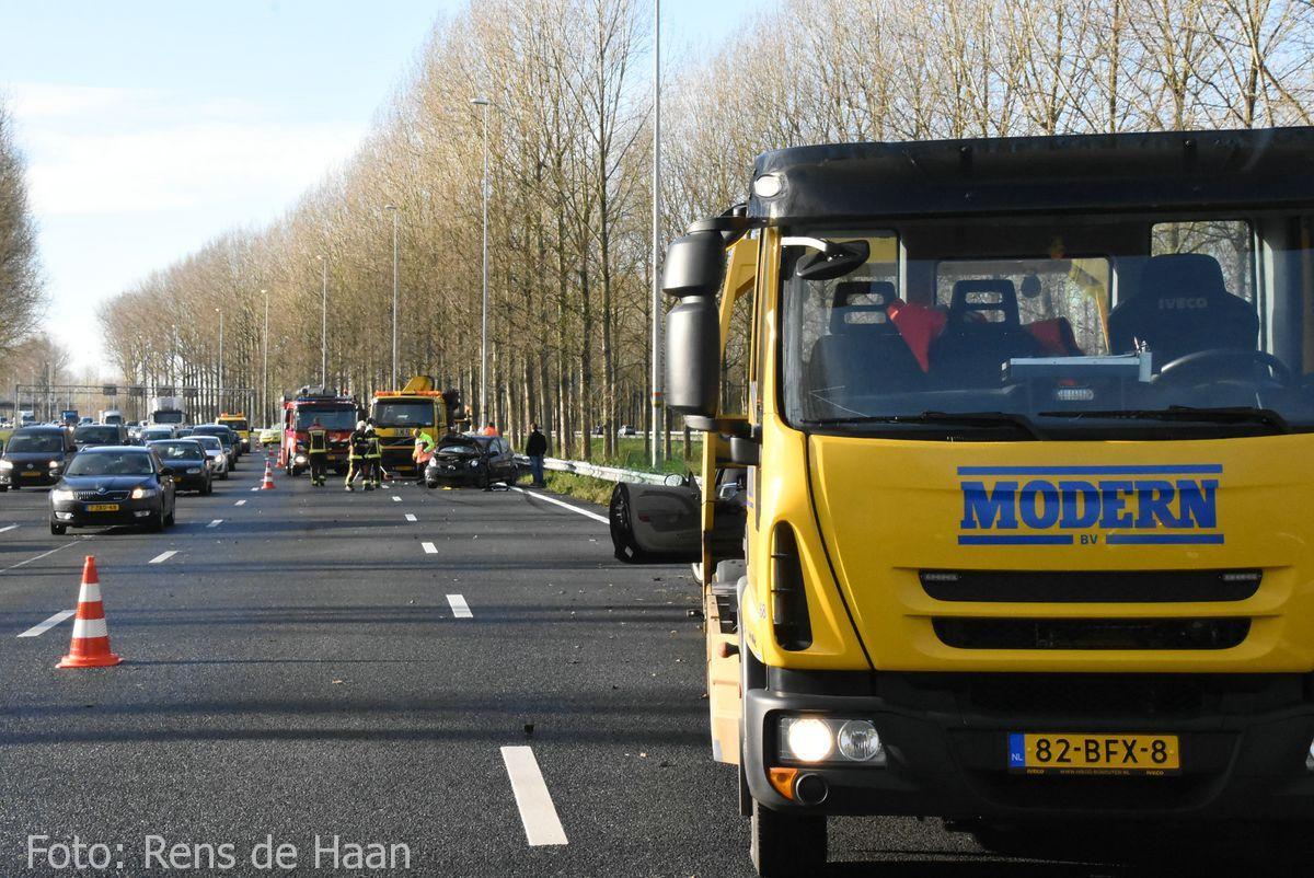 Ongeval op de A12 bij Reeuwijk (1)