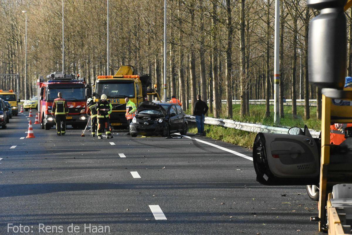 Ongeval op de A12 bij Reeuwijk (2)