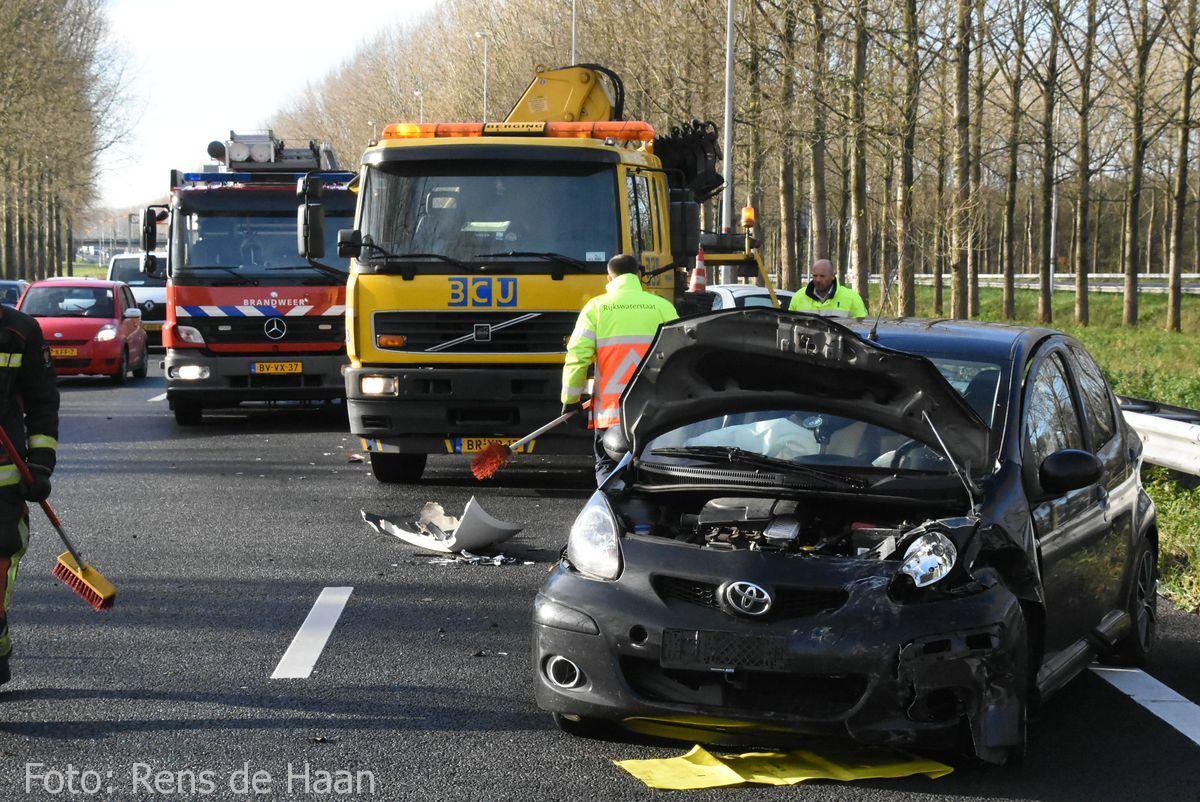 Ongeval op de A12 bij Reeuwijk (3)