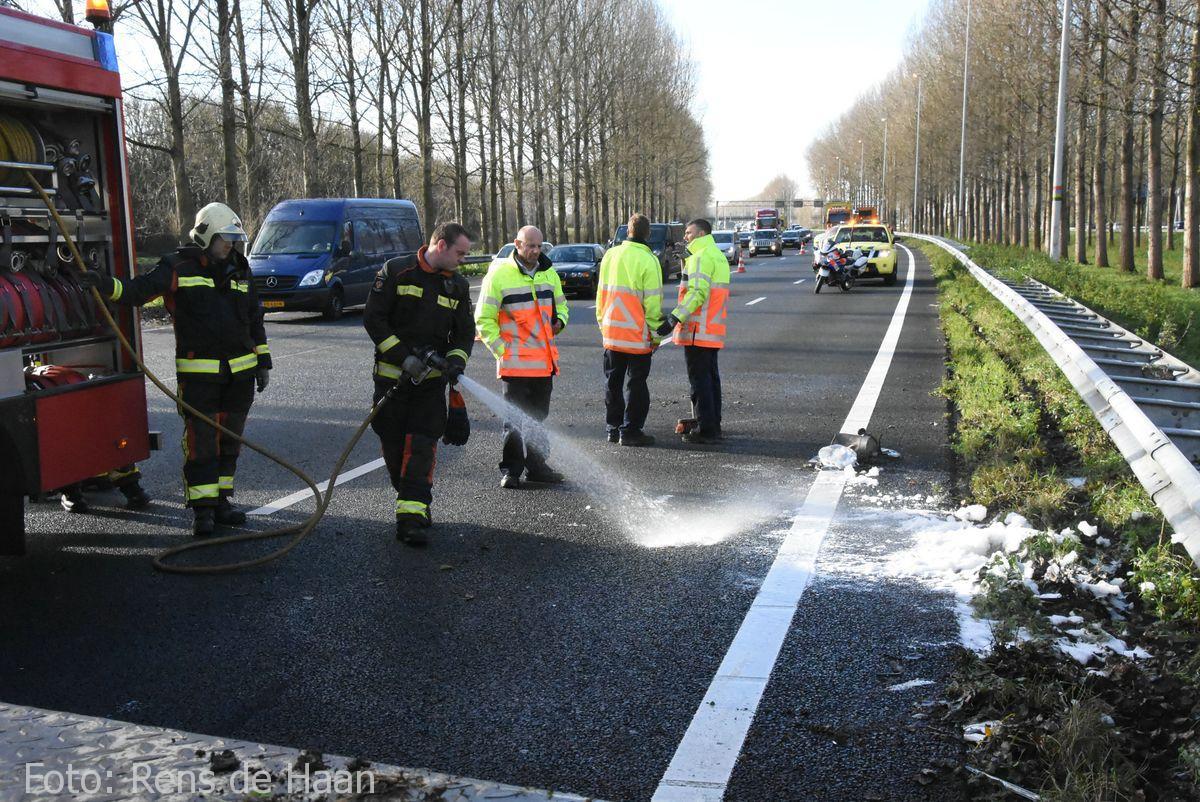 Ongeval op de A12 bij Reeuwijk (8)