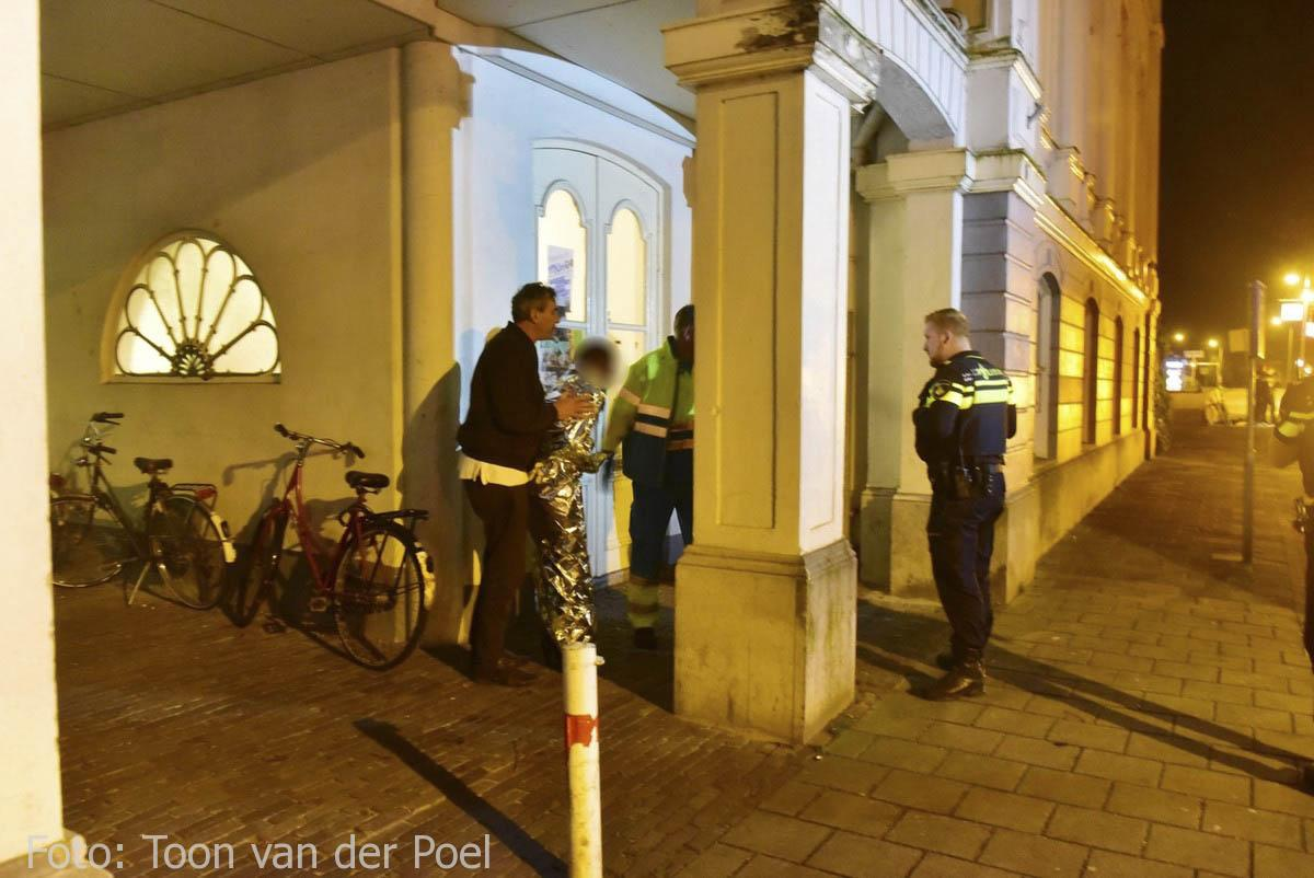 Persoon te water Leiden (3)