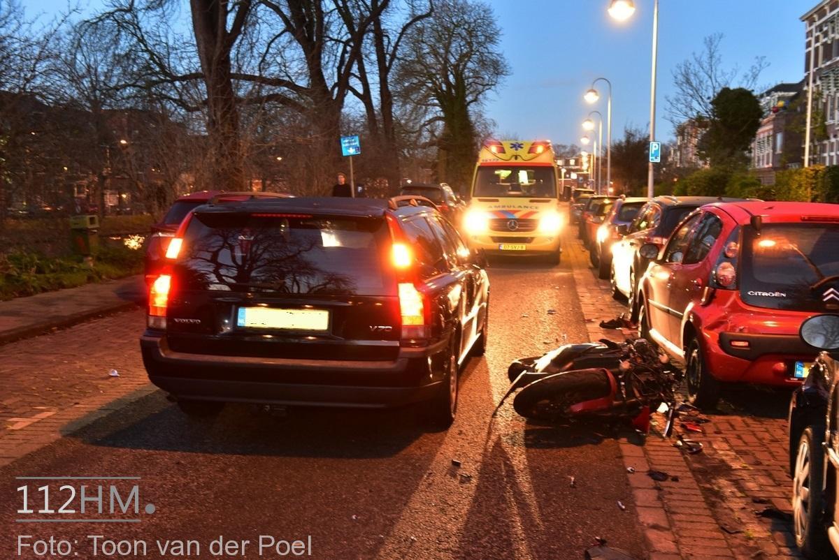 Ongeval auto vs motor JvHoutkade LDN (1)