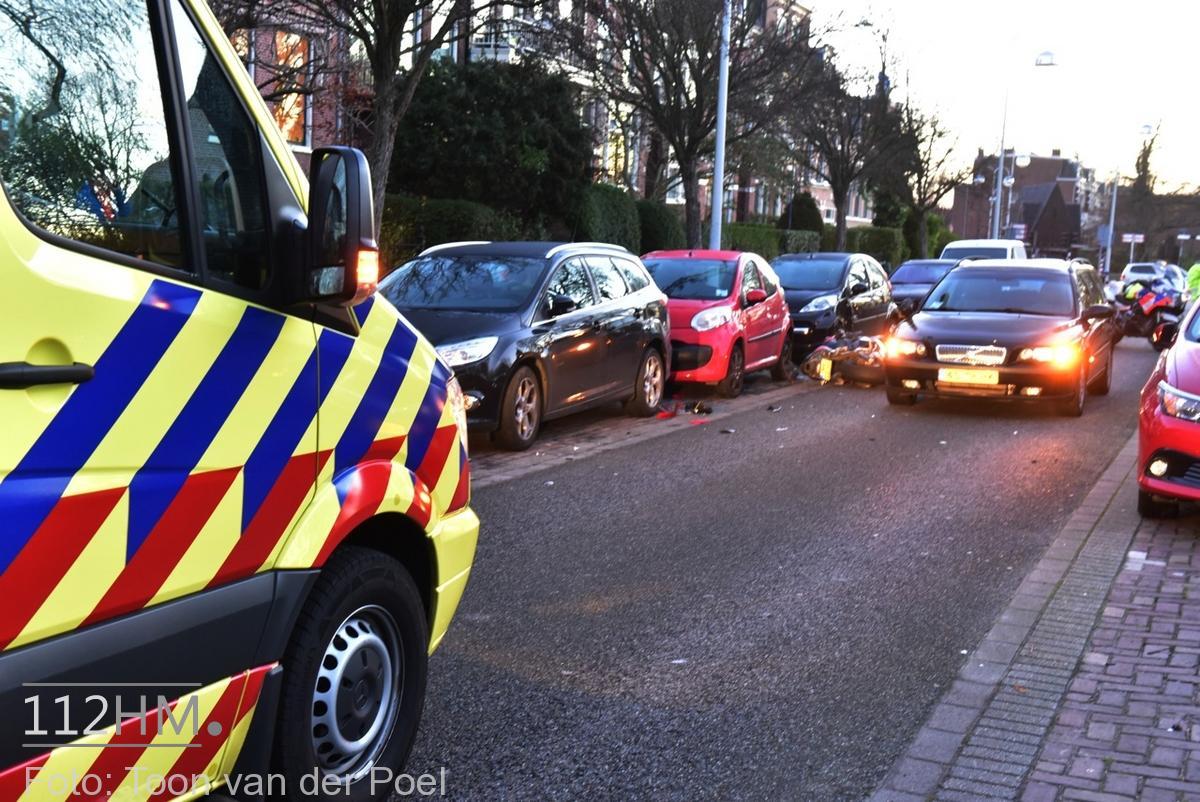 Ongeval auto vs motor JvHoutkade LDN (3)