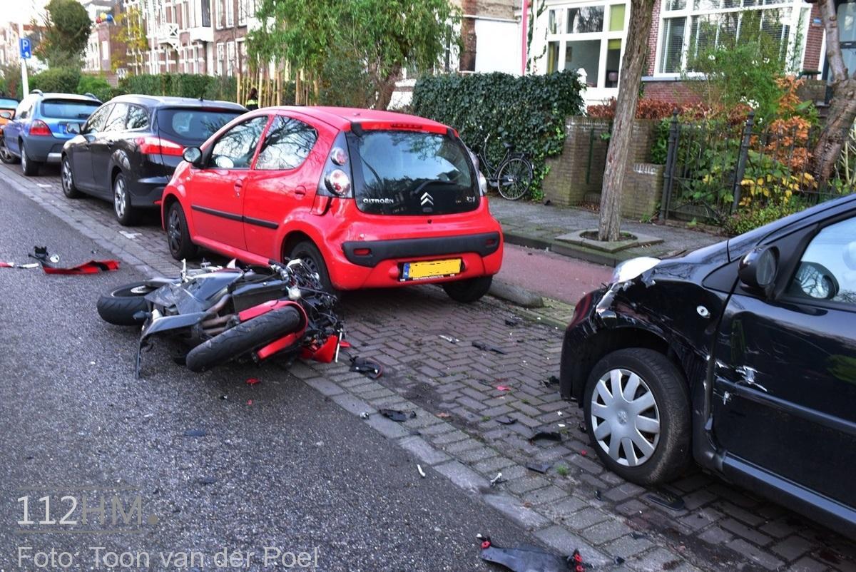 Ongeval auto vs motor JvHoutkade LDN (5)