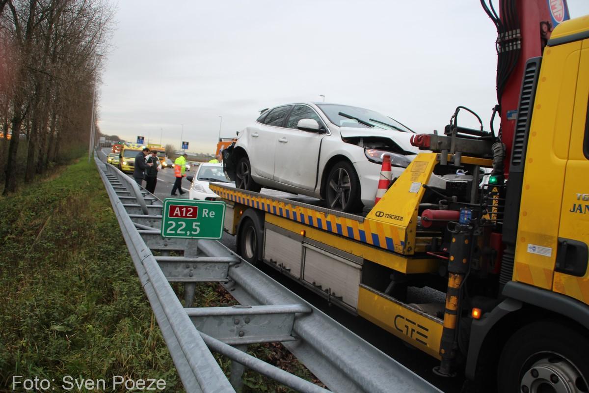 Ongeval (beknelling) A12 Zevenhuizen (16)-2